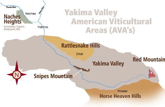 Yakima Valley American Viticultural Areas